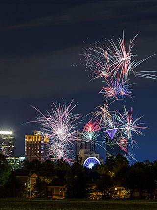 New Year's Eve in Atlanta, Georgia