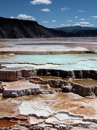 Celebrate the New Year At Old Faithful and Mammoth Hot Springs