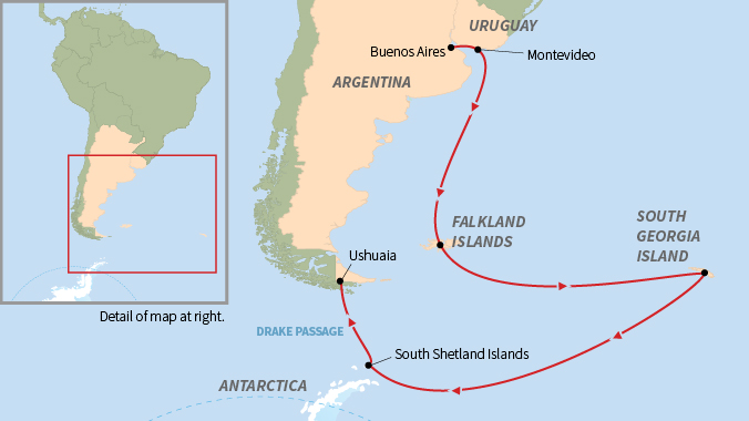 Falklands South Georgia Antarctic Islands - Georgia map islands